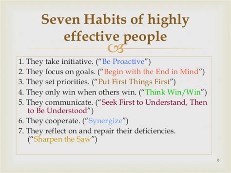 7 Habitsof Highly Efecktive book review of seven habits of highly effective