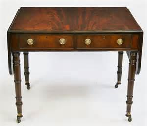 turned leg sofa table george 1v mahogany sofa table on ring turned legs