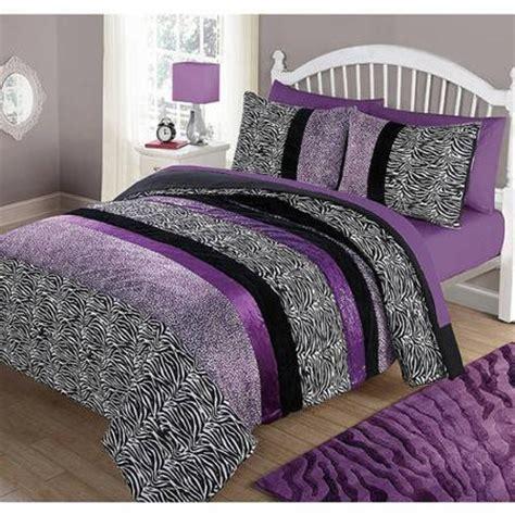 walmart queen comforters your zone purple pieced animal comforter set full queen