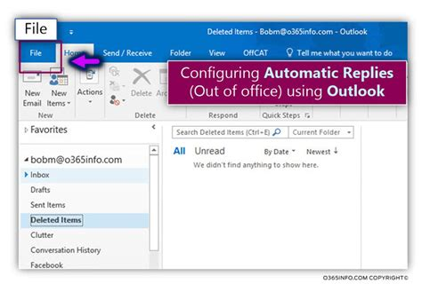 configuring automatic replies out of office using