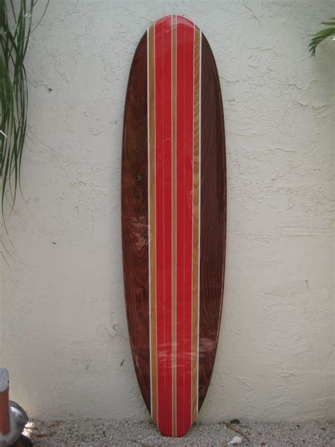 tropical decorative wooden surfboard wall for a