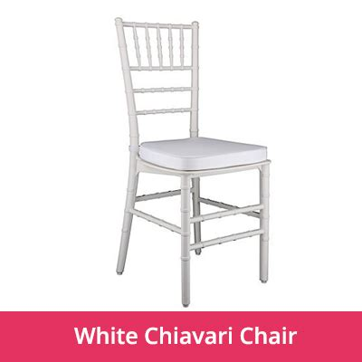 White Chiavari Chairs by Portfolio Right Click Events Dubai