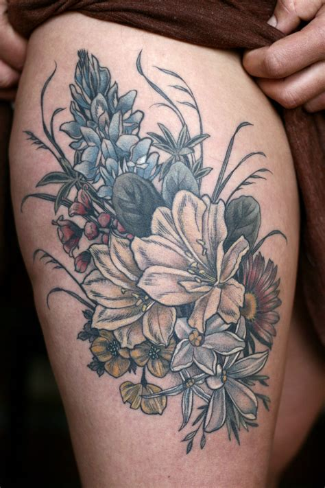 flower bouquet tattoo tattoos