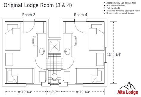 shared bathroom floor plans original lodge room with private shower or shared bath
