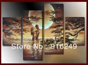 Framed huge wall art bedroom sexy nude 4 piece per set canvas painting