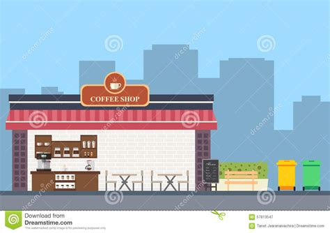 coffee shop flat design coffee shop flat set design stock vector image 57813547