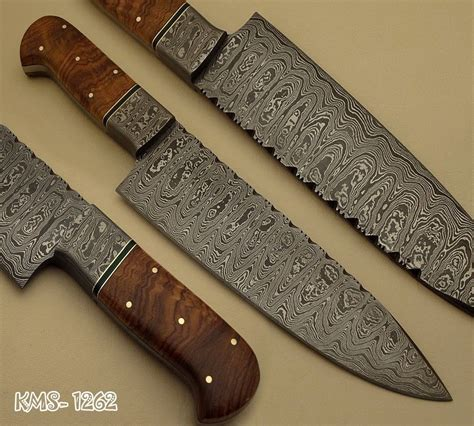 Custom Kitchen Knives beautiful hand made damascus steel hunting kitchen