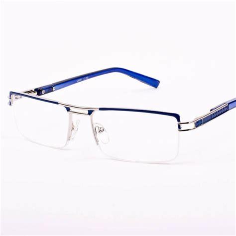 new mens womens designer semi rimless blue reading glasses