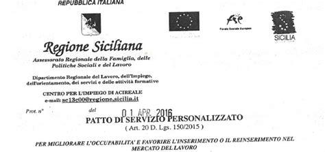 ufficio sta regione sicilia regione sicilia patto di servizio il patronato