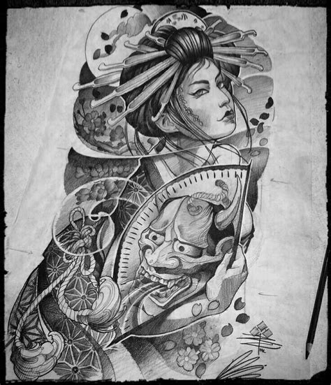 tattoo geisha orientale pin by goran jeftic on japanesse pinterest tattoo