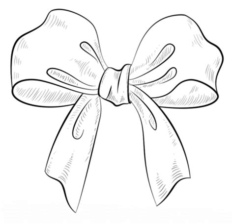 Bow Coloring Page  Free Printable Pages sketch template