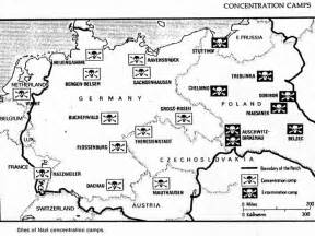 Concentration Camps In Germany Map by Concentration Camps Map And The Holocaust Pinterest