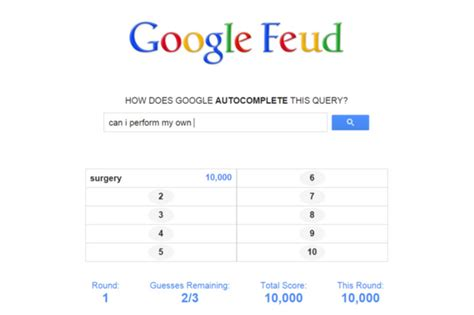 my google play order play a google autocomplete game with google feud itworld