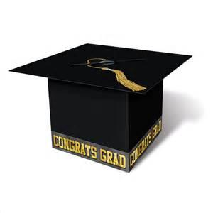 graduation cap card box black