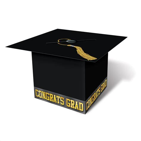 card box graduation cap card box black