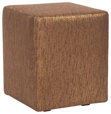 Howard Elliott Ottoman Howard Elliott Glam Chocolate Universal Cube Ottoman Transitional Footstools Ottomans By