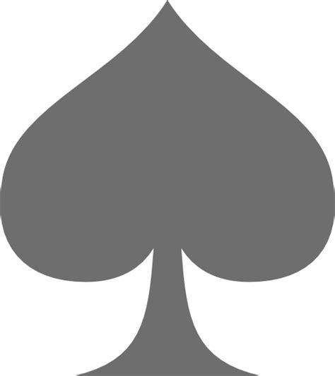 grey spade clip at clker vector clip