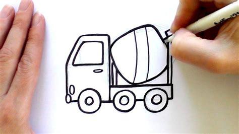 draw  cartoon concrete mixer concrete mixers