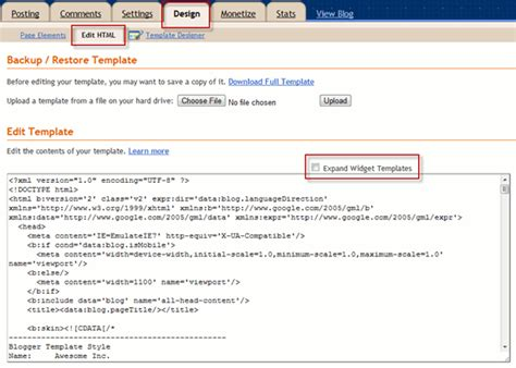layout blog html code how to add share buttons to blogger