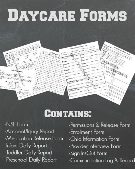 daycare record daycare forms records pack daycare forms daycare