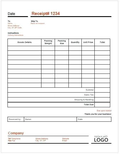 Delivery Receipt Template Pdf by Delivery Receipt Viqoo Club