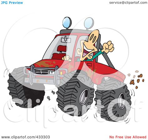 mud truck clip art royalty free rf clipart illustration of an excited man