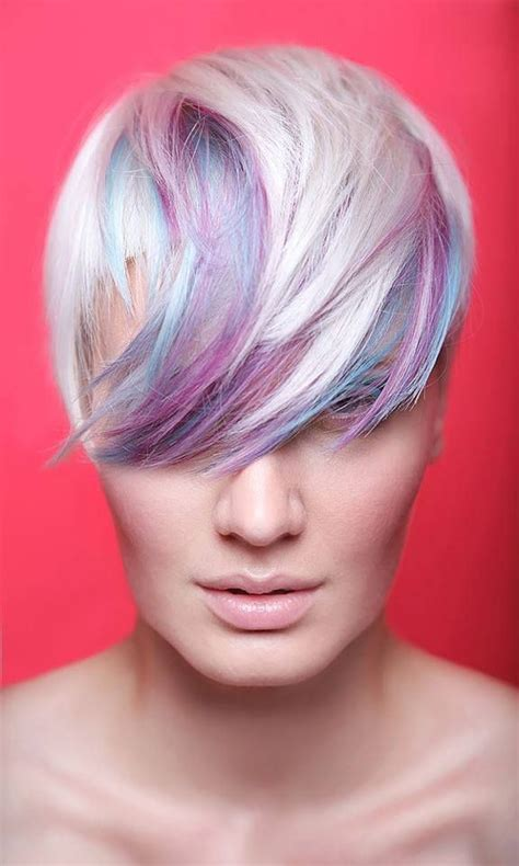 hairstyles with pastel colours 41 best short hairstyles images on pinterest colourful