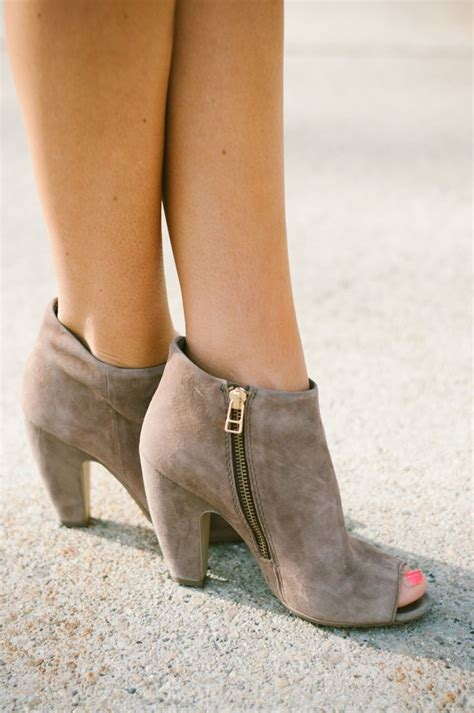 peep toe 20 different kinds of ankle high booties styles weekly