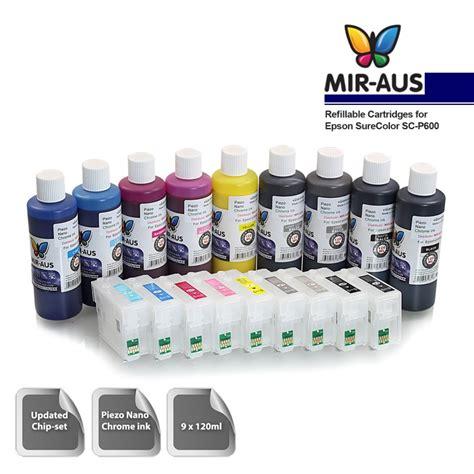 Tinta Isi Ulang Epson isi ulang tinta cartridge epson surecolor sc p600 9 warna