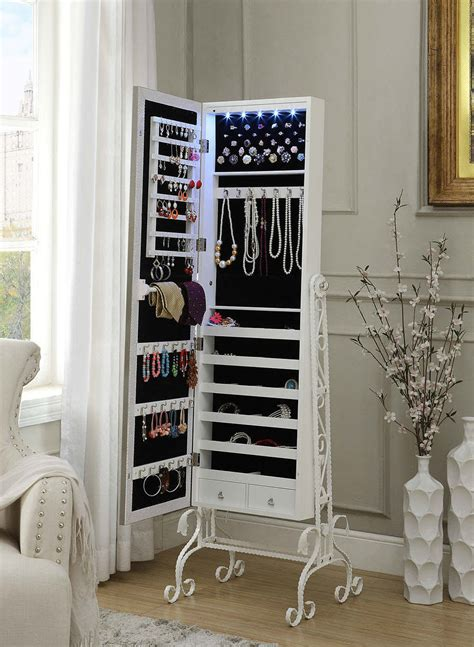 iron home decor jewelry armoire box storage organizer cabinet