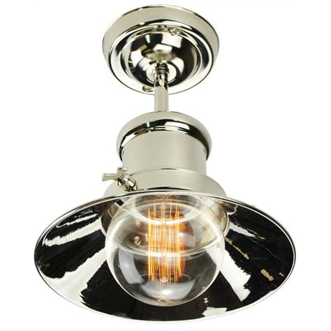 Flush Fitting Ceiling Lights Uk Nickel Semi Flush Light For Low Ceiling In Nautical Industrial Design