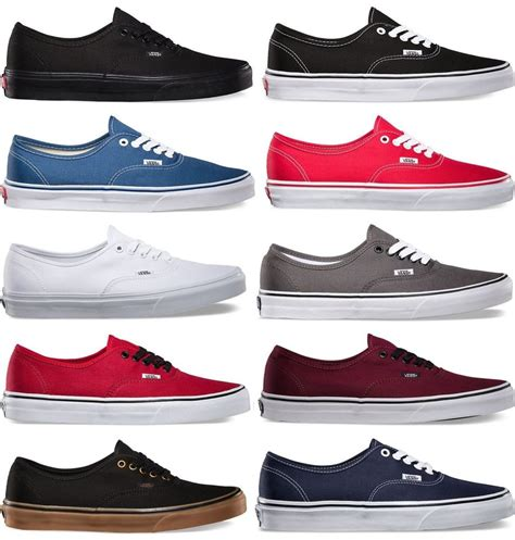 vans authentic era classic real sneakers canvas mens
