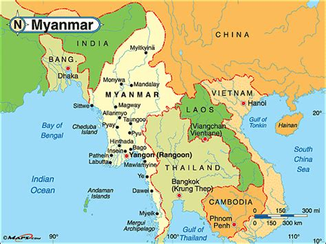 political map of myanmar myanmar political map by maps from maps world s