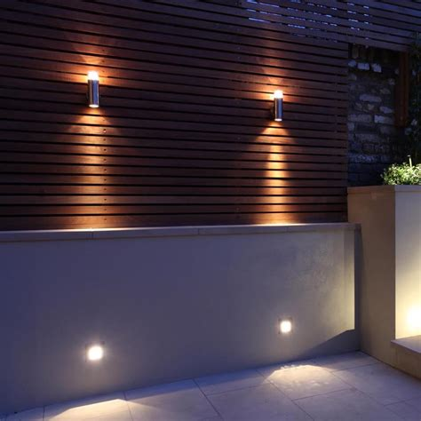 Patio Wall Lighting Ideas Mesh Halogen Wall Light Garden Exterior Cullen Lighting
