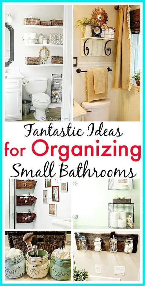 1000 ideas about organizing small homes on