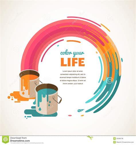 design idea design creative idea and color concept stock vector
