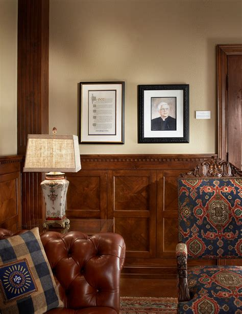 Wainscoting Office by Reading Room Wood Paneling Traditional Home Office