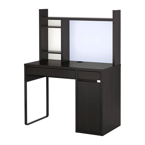 micke workstation black brown ikea