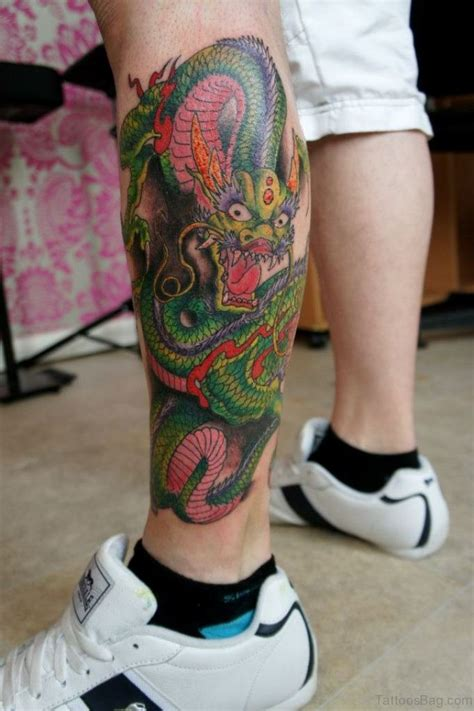 green dragon tattoo 33 modern tattoos for leg