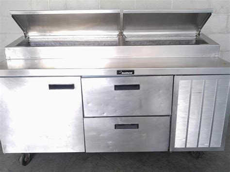 Used Delfield 72 Quot Raised Rail 1 Door 2 Drawer Work Pizza