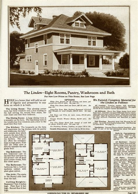 93 Best Images About American Foursquare Homes On Gordon Tine House Plans