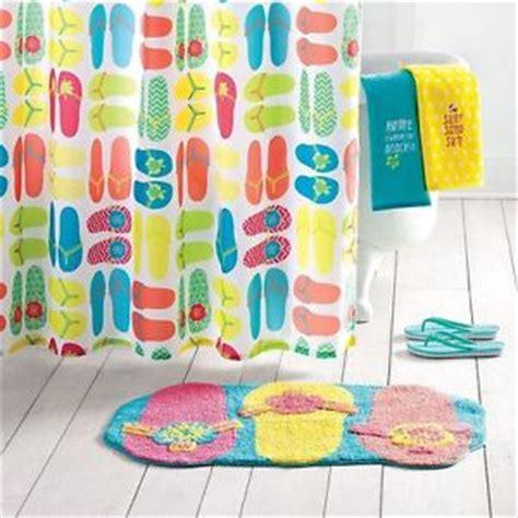 Flip Flop Bath Rug 3 Sonoma Summer Flip Flop Bathroom Collection New Curtain Rug Towel Ebay