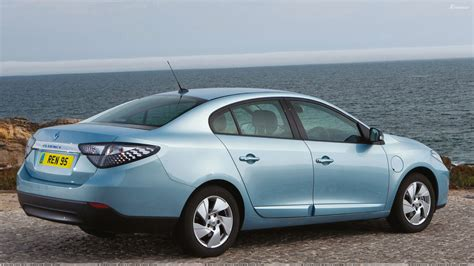 renault fluence ze 2012 renault fluence ze back pose in blue wallpaper