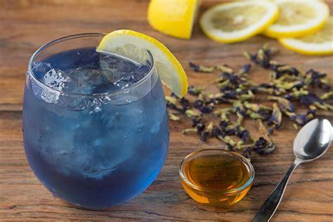 Butterfly Pea Tea 1 butterfly pea flower iced tea