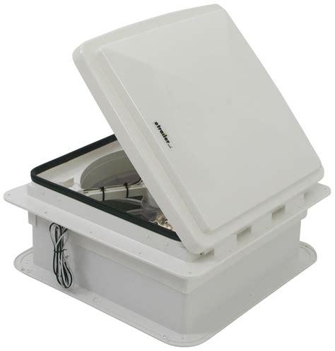 rv roof vent fan maxxair maxxfan trailer roof vent w 12v fan manual lift
