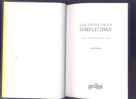 las 8 leyes de la simplicidad de john leyes de la simplicidad john maeda