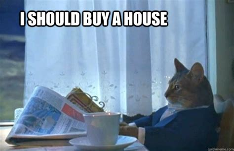 should i buy a house i should buy a house sophisticated cat quickmeme