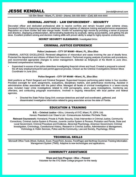 mention skills claim adjuster resume criminal justice resume uses summary section of the
