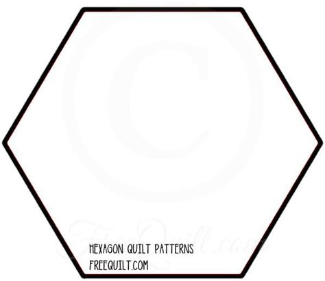 6 inch hexagon template free hexagon quilt block patterns
