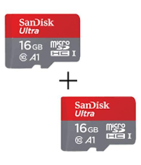 Memori Sandisk 16 Gb Class 10 sandisk 16 gb class 10 a1 memory card pack of 2